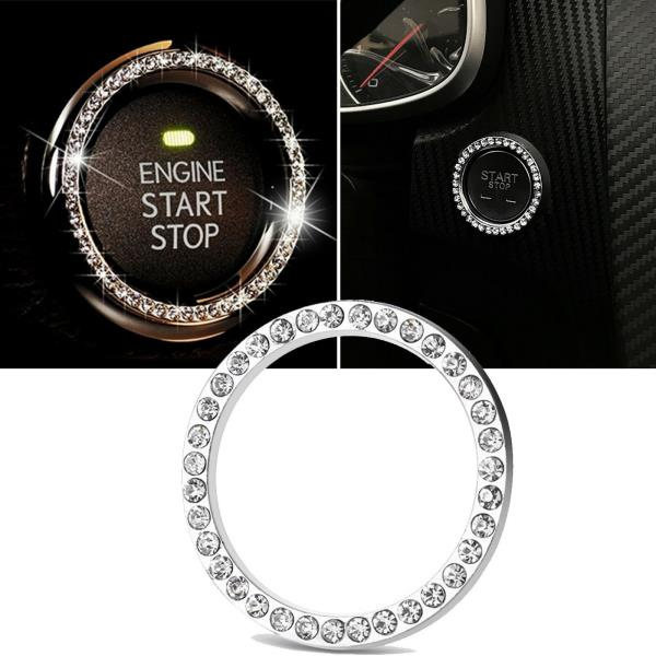 key starter or keyless Car ignition bling diamante rhinestones crystal ring
