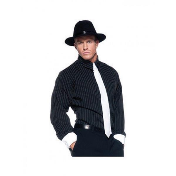 Striped Underwraps Mens Gangster Shirt
