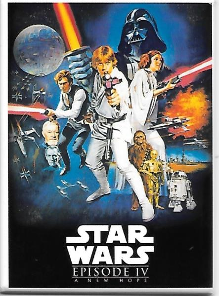 Star Wars Episode Iv A New Hope Movie Poster Image Refrigerator Magnet Unused Ebay