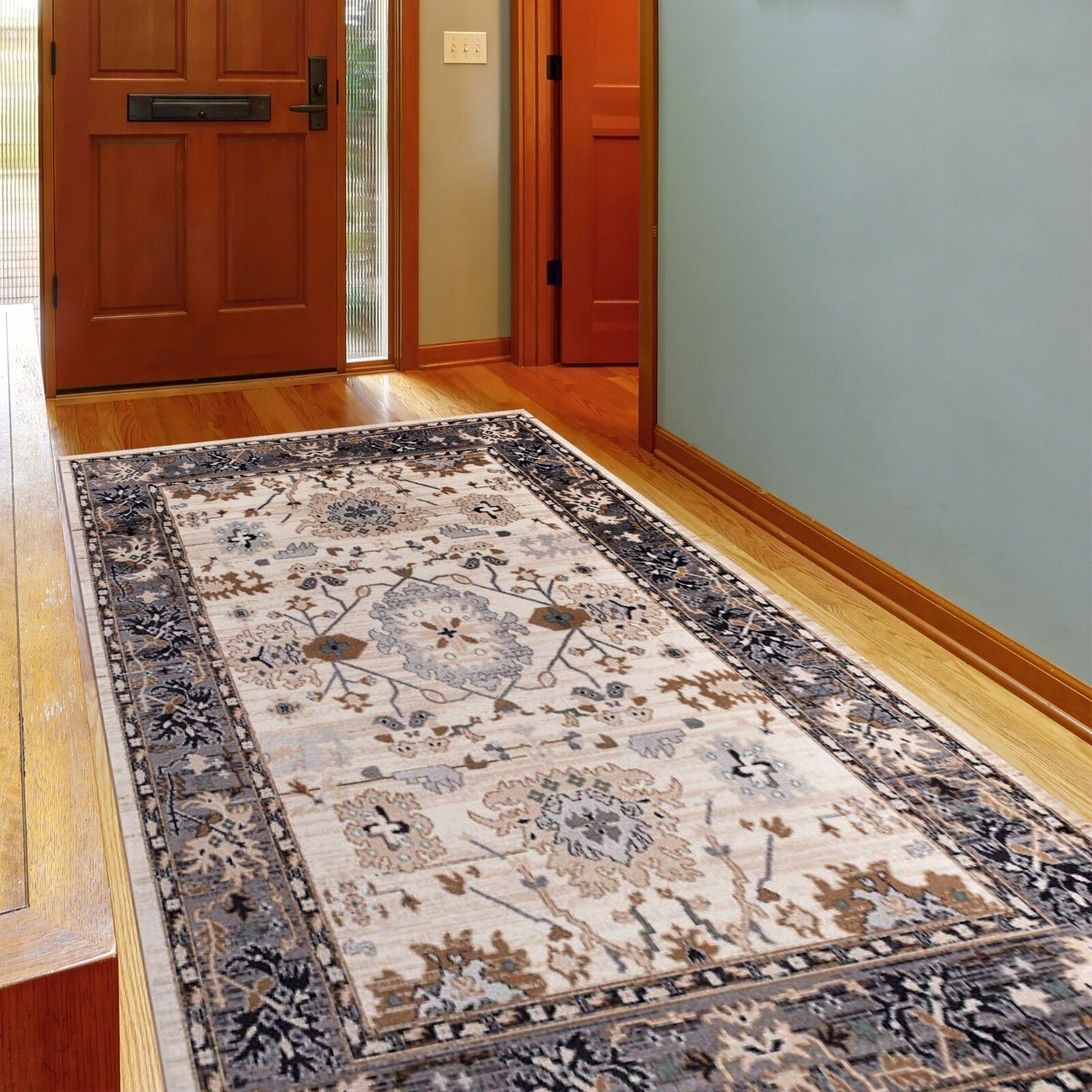 Functional And Practical Kitchen Solutions For Small: SMALL MEDIUM EXTRA LARGE WHITE RUG CLASSICAL FLORAL
