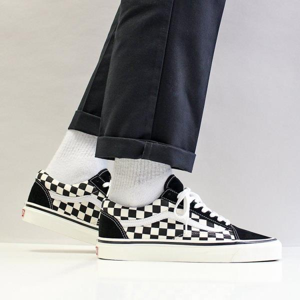 Details about Vans Men's New Old Skool 36 DX Suede Canvas Anaheim Factory Trainers Black White