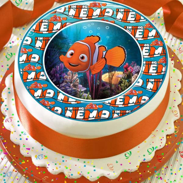 Miraculous Finding Nemo Cute Border Precut Edible Birthday Cake Topper Funny Birthday Cards Online Elaedamsfinfo
