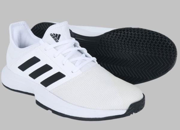 Adidas Men Game-Courts Tennis Shoes White Training Sneakers Casual ...