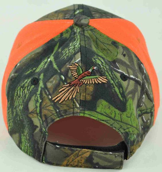 PHEASANT OUTDOOR HUNTING FLAME CAP HAT BLACK CAMO NEW