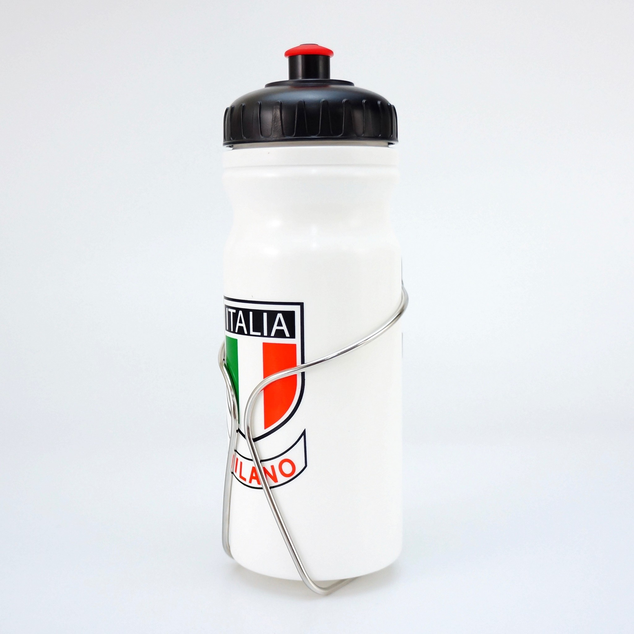 Italia milano thin Design Stainless Cage and Water Bottle for Steel Road Bike