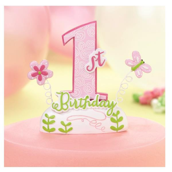 Stupendous 1St Birthday Cake Toppers Baby Girl First Birthday Cake Topper Personalised Birthday Cards Veneteletsinfo