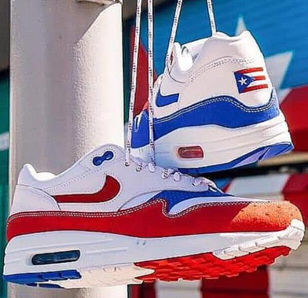 Details about Nike Air Max 1 Premium Puerto Rico White Blue Red Size 8 9 10 11 12 Mens Shoes