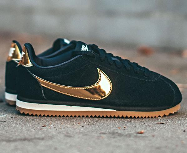 Details about NIKE Cortez Suede Black Gold Sneakers new Size 6 7 8 9 Womens Shoes max air 2018
