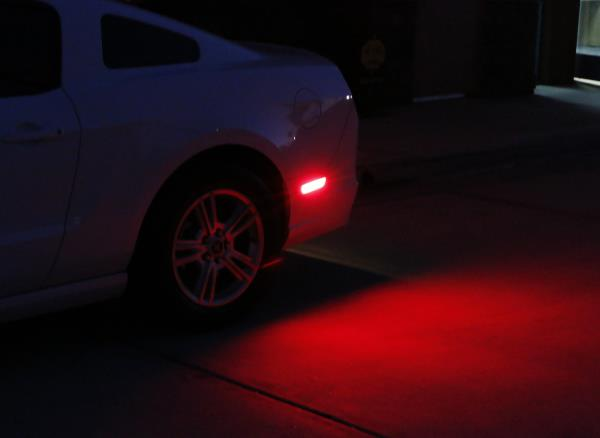 Smoked Lens LED Rear Side Marker Lamps with 48-SMD Red LED Lights For 2015-up Ford Mustang 2 iJDMTOY