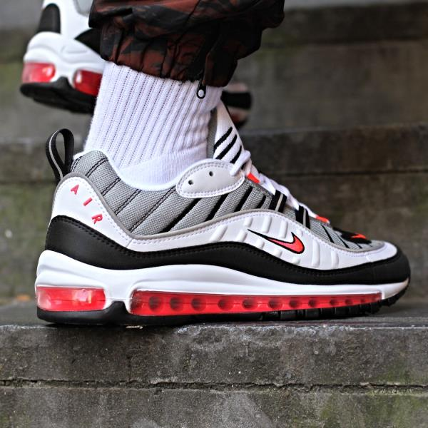 Details about Nike Air Max 98 Sneakers Solar Red Size 6 7 8 9 Womens Shoes New