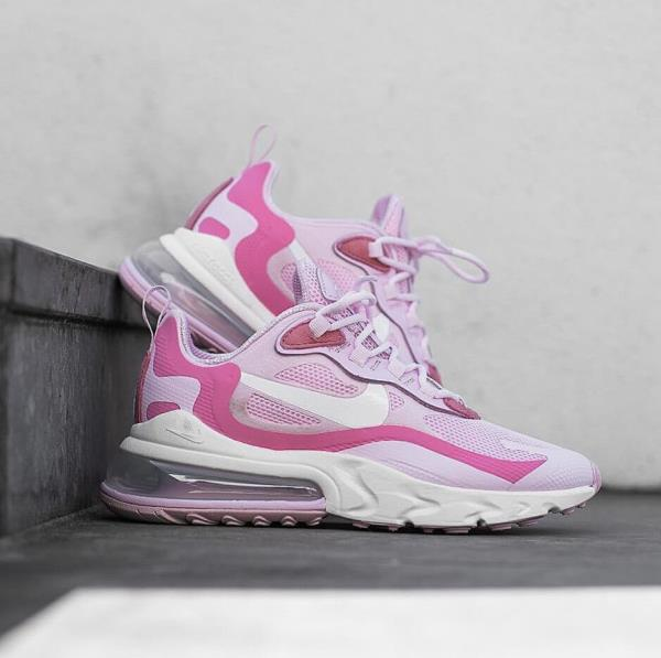Nike Women S Air Max 270 React Pink Foam White Digital Pink Ebay