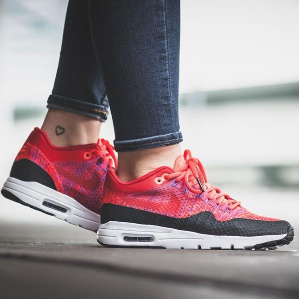 Details about Nike Air Max 1 Ultra Flyknit Sneakers University Red Size 6 7 8 9 Womens Shoes