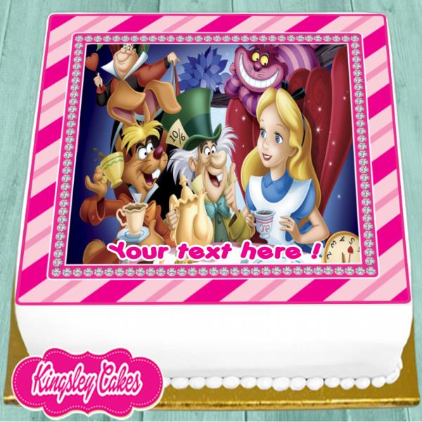 Alice In Wonderland 7 Inch Edible Image Cake Cupcake Toppers