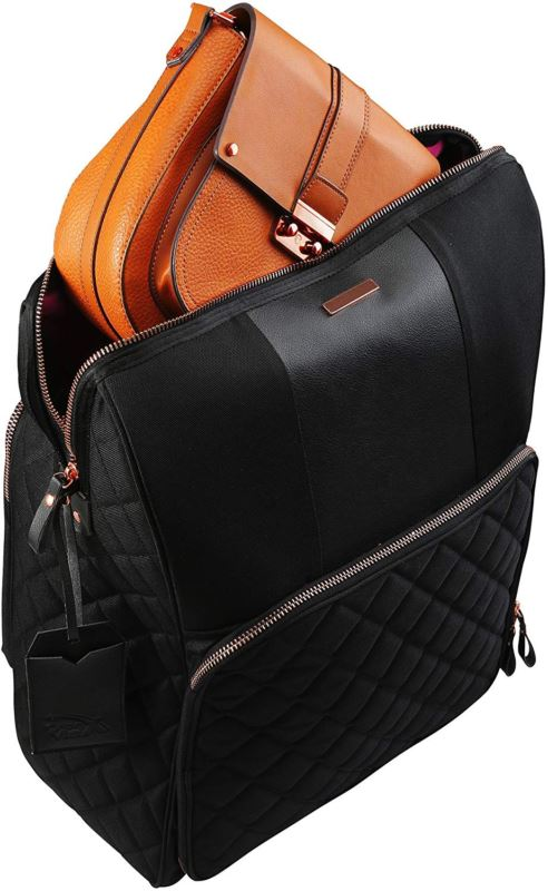 Cabin Max Travel Hack Pro Rose Gold Bags 55 x 40 x 20 cm with an Integrated Comp