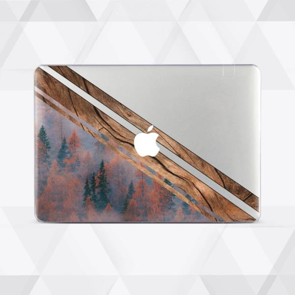 Forest Wood Geometry Hard Cover Case Shell Macbook Pro Retina Air 11 12 13 15