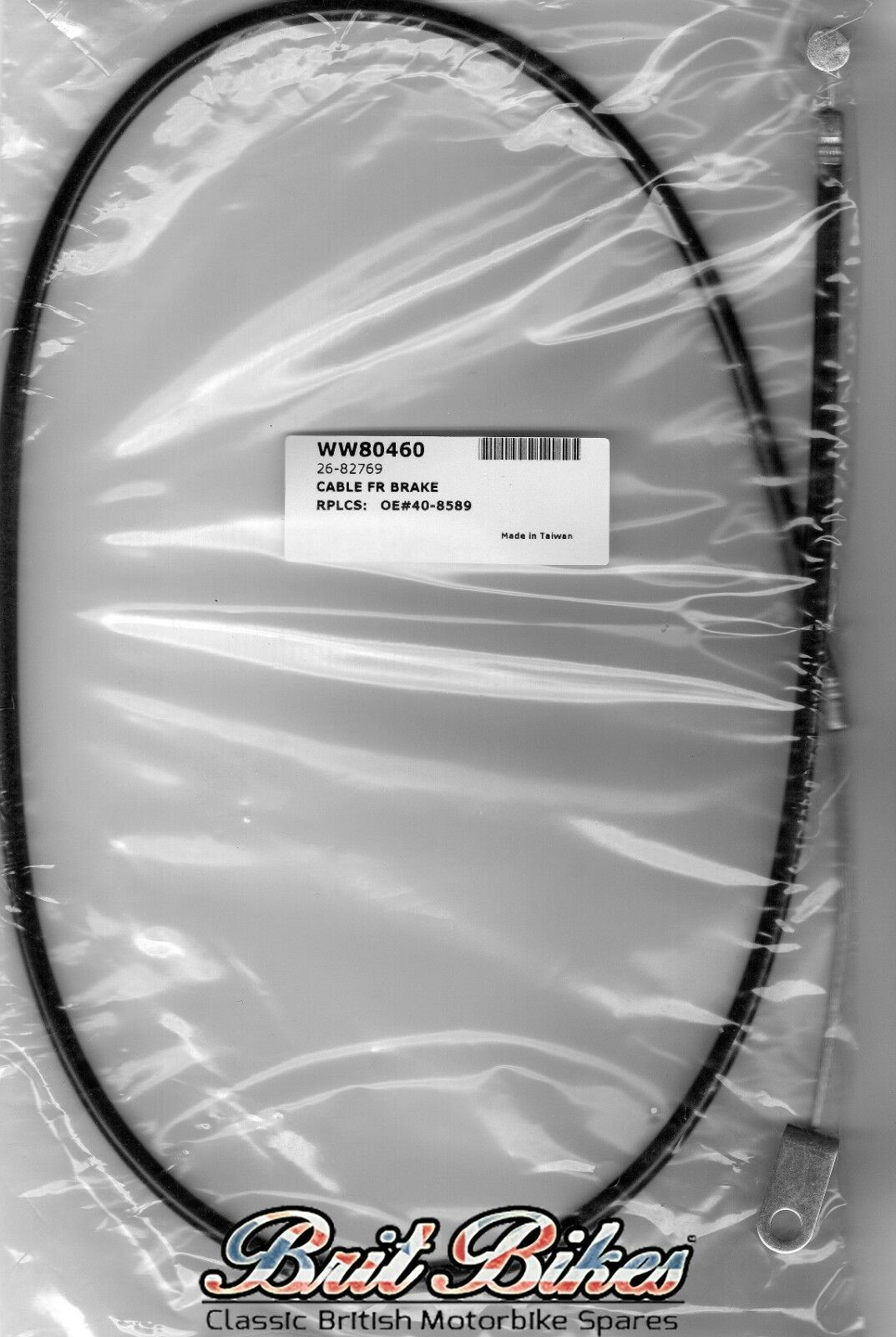 """40-8598 33/"""" FRONT BRAKE CABLE to fit BSA C15 1961-1963 pt no"""