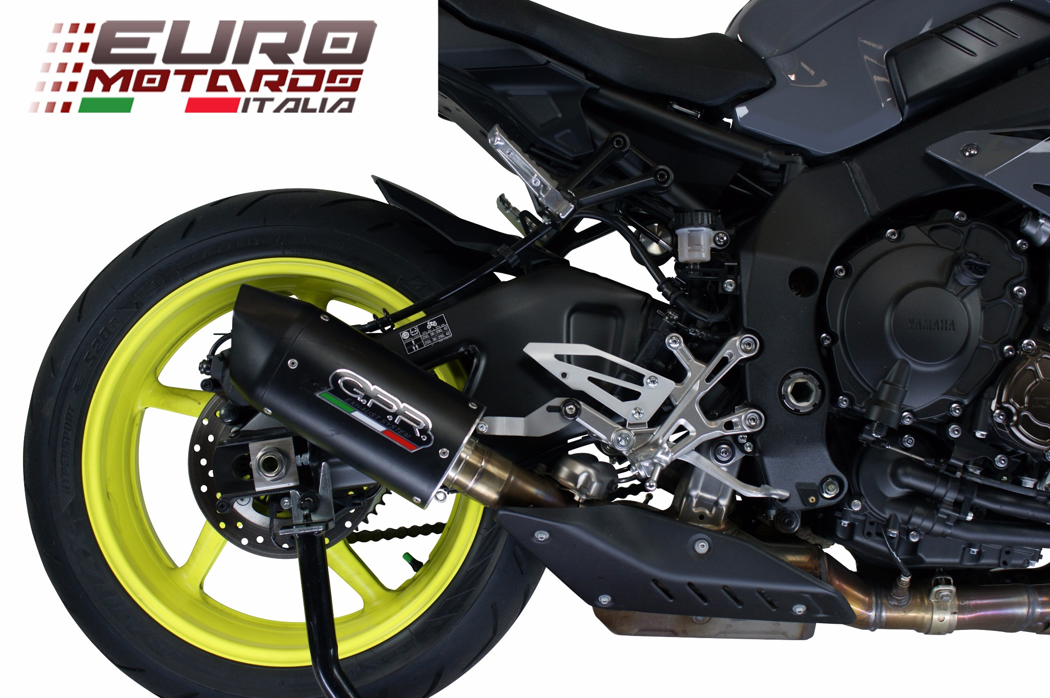 Details About Yamaha Mt10 Fz10 2017 2019 Gpr Exhaust Slip On Silencer Furore Nero Road Legal