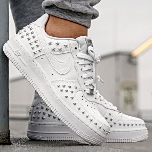 Details about Nike Wmns Air Force 1 XX Star Studded White Size 6 7 8 9 Womens Shoes AR0639 100