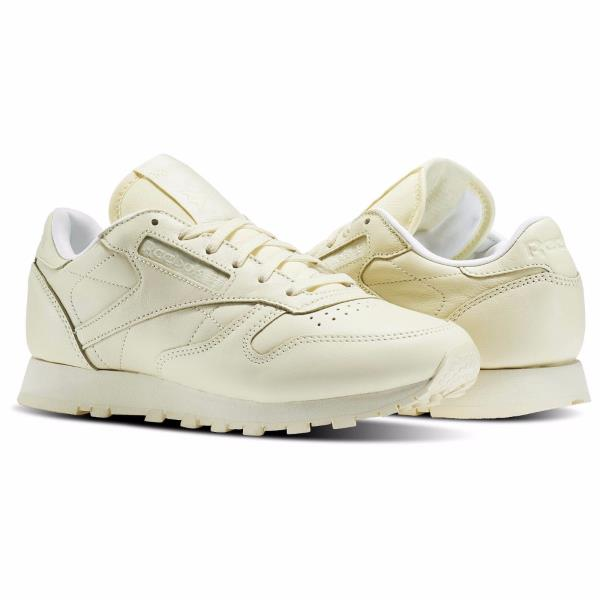 para agregar Pagar tributo familia real  BD2772] Womens Reebok Classic Leather Pastels - Spirit Collaboration Yellow  | eBay