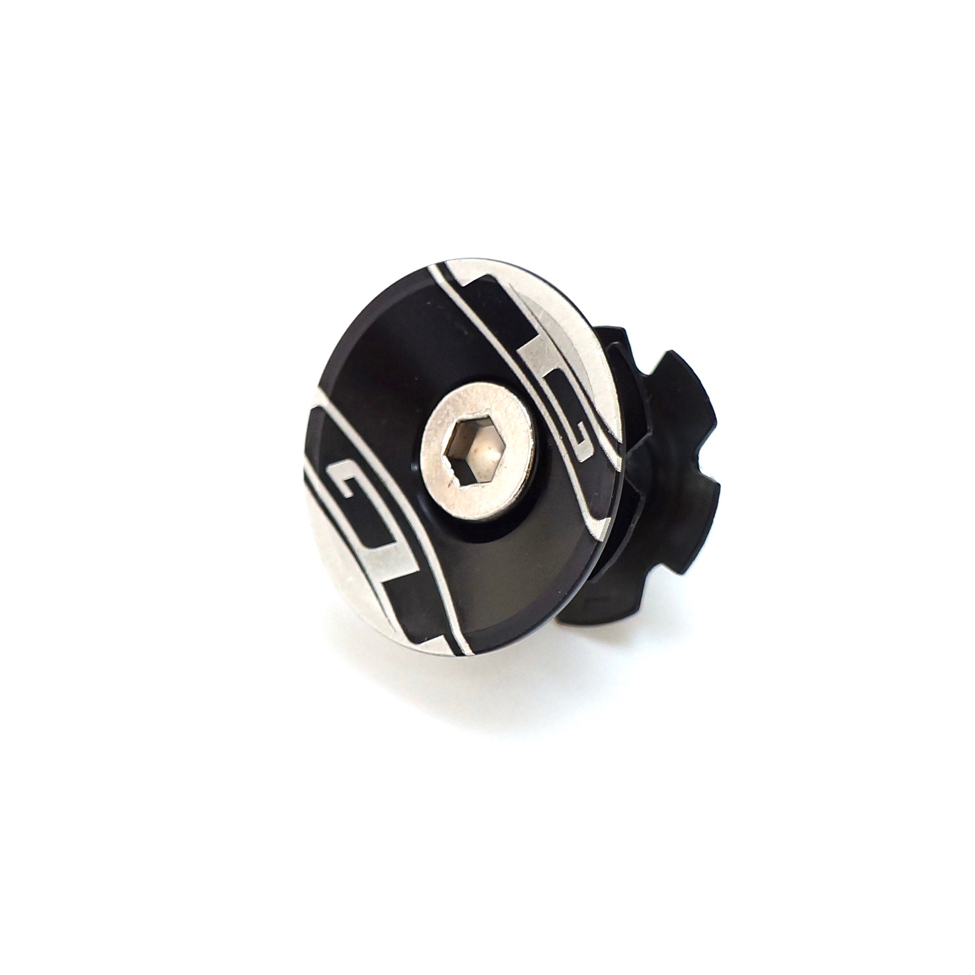 """GT Bicycle 1-1//8/"""" Headset Star Nut /& Top Cap Set Black// Gold// Gray"""