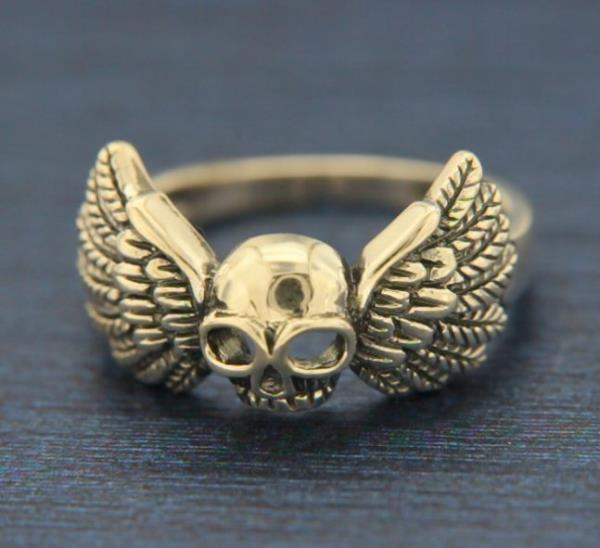 .925 Sterling Silver Halloween Skulls Fashion Ring Size 6 7 8 9 10 11 12 NEW