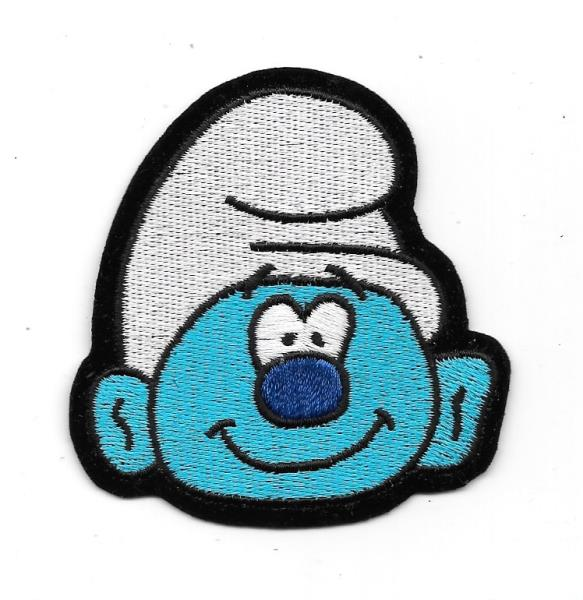 Smurfs blue female character cartoon badge Embroidered Iron on Sew on Patch