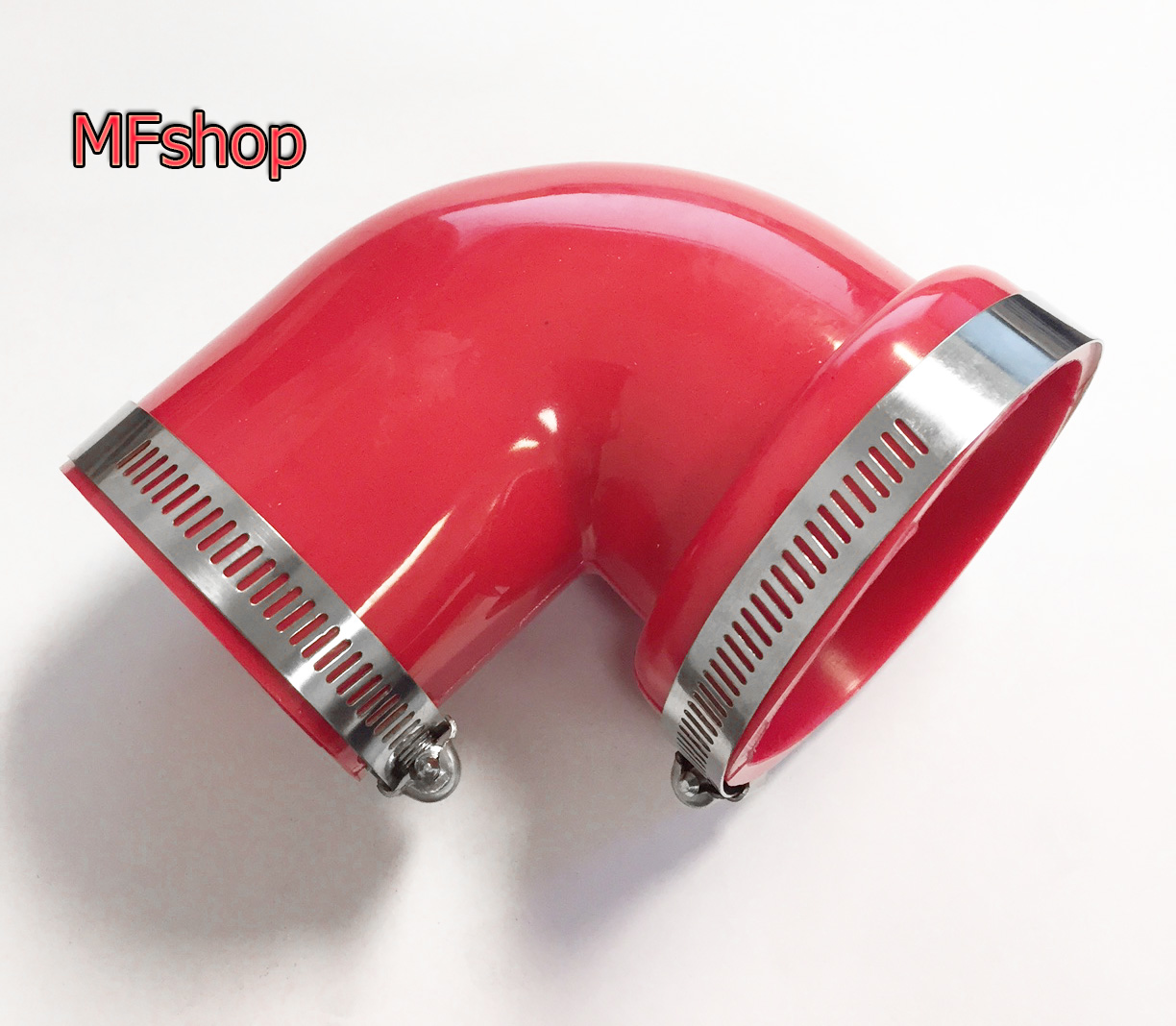 """4/"""" 90 Degree Rubber Elbow Coupler Intercooler Reducer 2 Clamps Red Blue Black"""