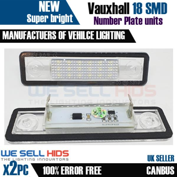 LED Licence Number Plate Light For Vauxhall Opel stra Vectra B Tigra Zafira