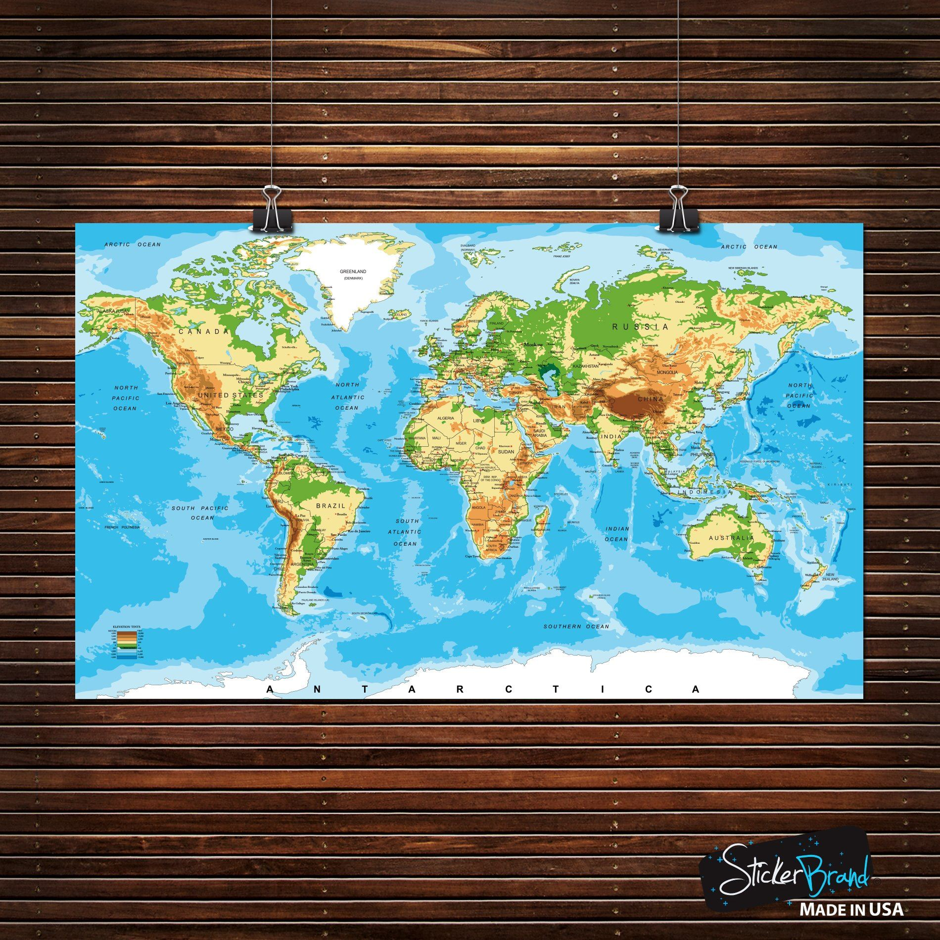 Details about World Map Poster. Educational Wall Map Guide with Elevation on modern china map poster, modern world map decal, modern germany poster, modern space map poster, modern world map print, modern travel poster, modern wall art, modern world map design, modern world map canvas, modern art poster,