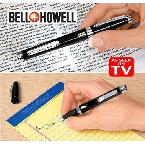 Bell /& Howell Knighthawk Light Pen With Lighted LED Magnifier As Seen On TV