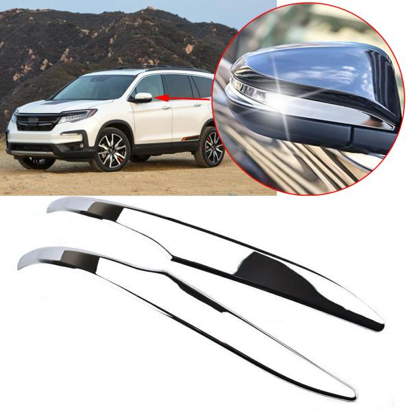 S.Steel mirror side molding cover Chrome trim For Toyota Highlander 2014-UP