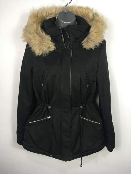 Women'S Black Parka Coats With Fur Hood