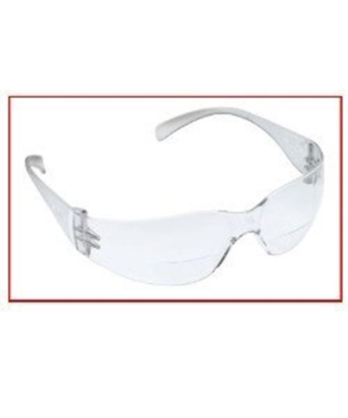 SSP Eyewear 2.00 Bifocal//Reader Safety Glasses with Red Frames and Mirrored Lens
