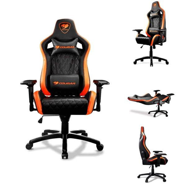 Incredible Details About Cougar Armor S Gaming Chair Leather Lay Back Gamer Chair Executive Racing Style Andrewgaddart Wooden Chair Designs For Living Room Andrewgaddartcom