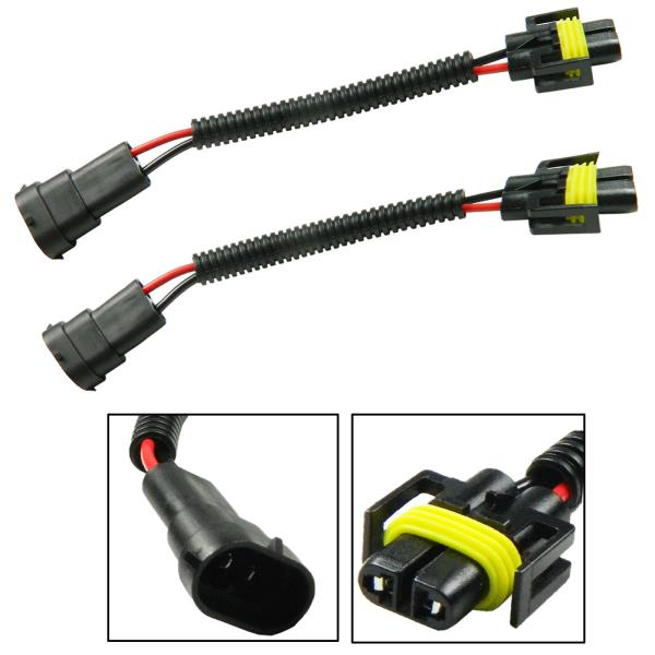 HUIQIAODS H11 H8 H9 881 880 Female Adapters Wiring Harness Sockets Wire Pigtails For Headlights or Fog Lights Retrofit Pack of 2
