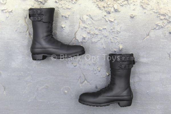 1//6 Scale Toy Agents of Shield Agent Skye Pair of Black Combat Boots Foot Type