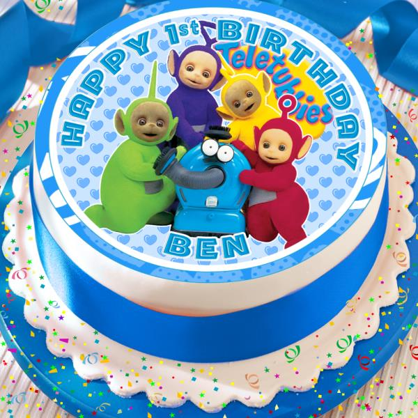 Miraculous Teletubbies Blue Birthday Personalised 7 5 Inch Edible Cake Topper Birthday Cards Printable Nowaargucafe Filternl
