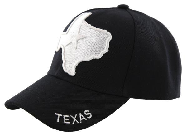 State of Texas Lone Star Map Flag Khaki Acrylic Embroidered Cap Hat