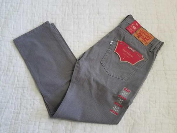 502 Taper Fit Men/'s Jeans Grey Warp Stretch $59.50 Style # 295070112