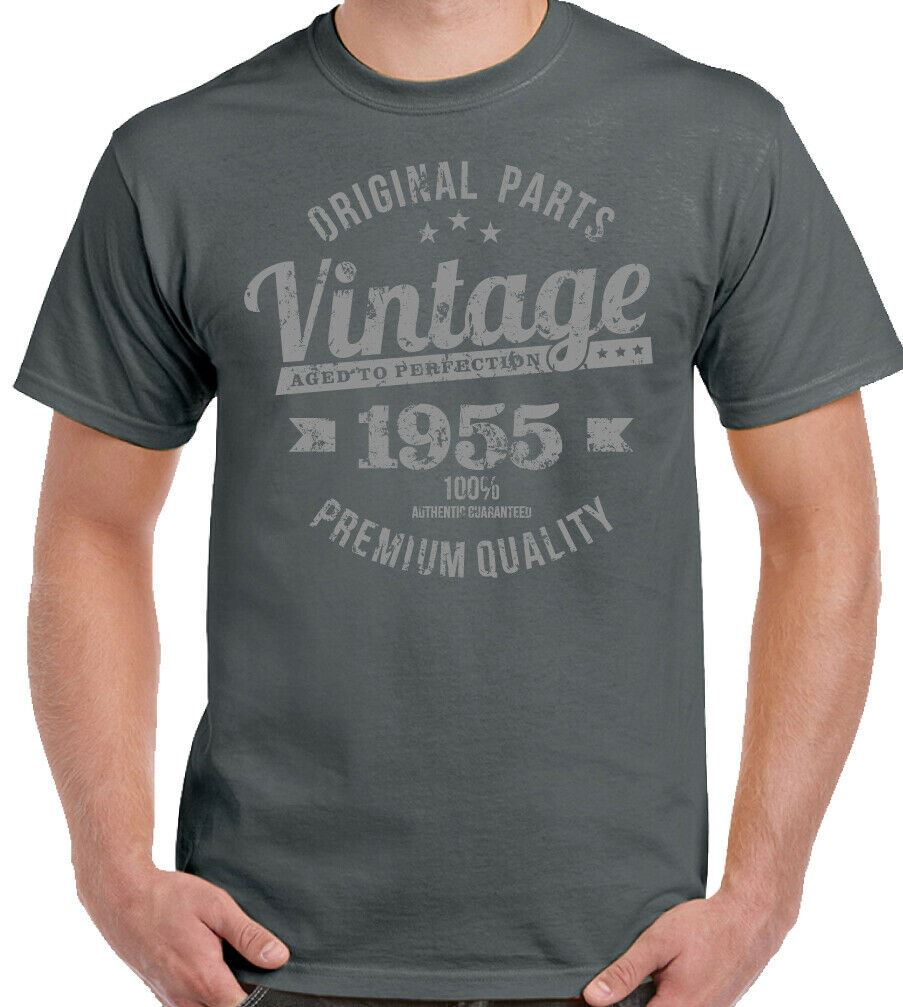 65th Birthday T-Shirt 1955 Premium Quality Mens For An 65 Year Old Vintage Year
