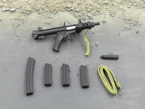 British 70-80s Infantry Weapon Sterling Rifle w// Sling /& Magazine 1//6th Scale
