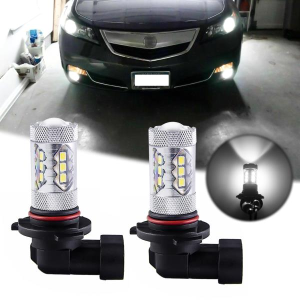 6000K White 9005 LED Bulbs Daytime Running Light DRL For