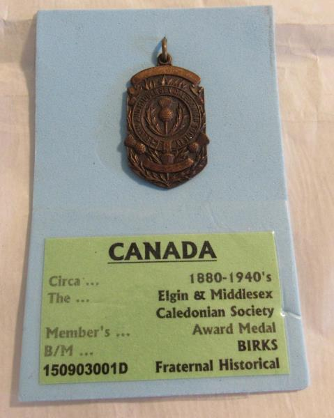 VINTAGE BIRKS IMPERIAL ORDER DAUGHTERS OF THE EMPIRE PIN LARGE ENAMEL IODE