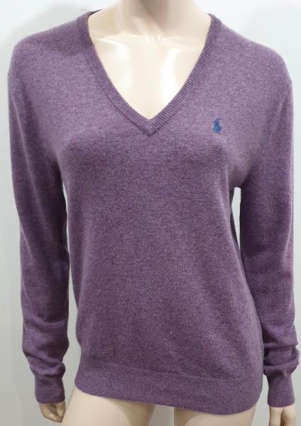 RRP £100 Polo Ralph Lauren Mens Wool V Neck Sweater Size M