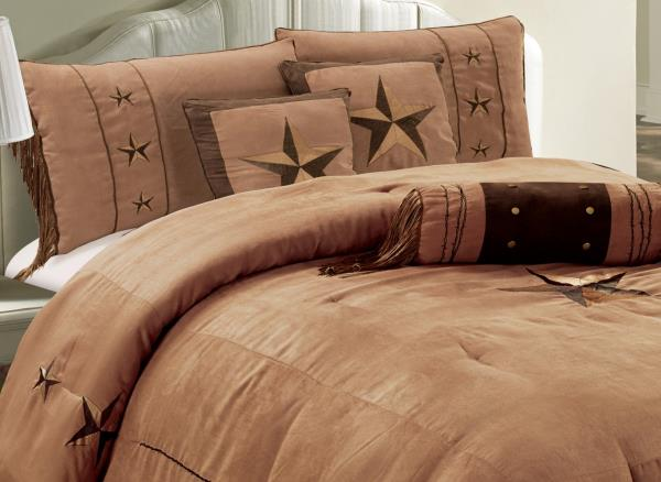 Twin Full Queen Cal King Black Brown Cowboy Star Western Soft 7 Pc Comforter Set Comforters Bedding Sets Home Garden Worldenergy Ae