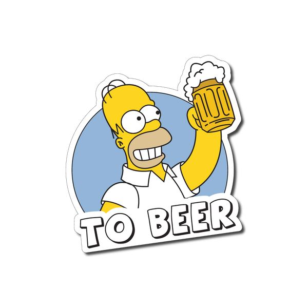 To Beer Sticker Decal Funny Mancave Beer Cartoon Ebay