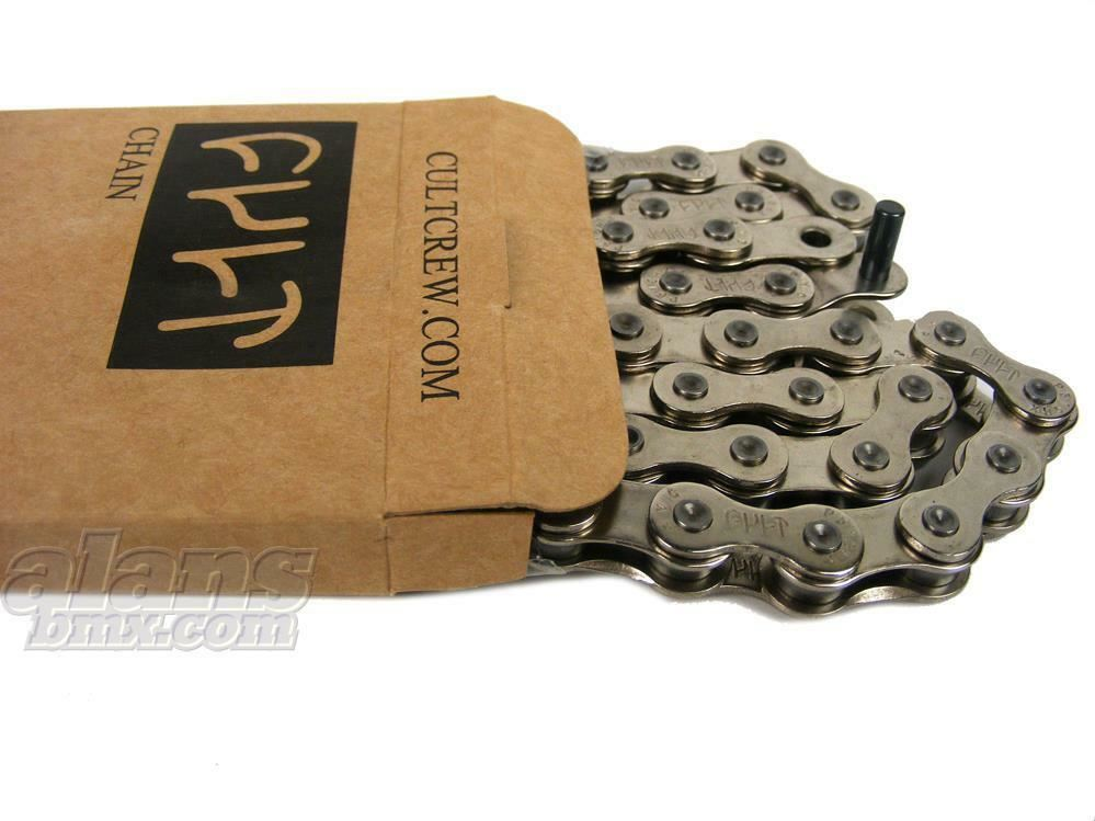 Cult 410 510 or Half Link Single Speed 1//8 BMX Chain Black Silver or Gold