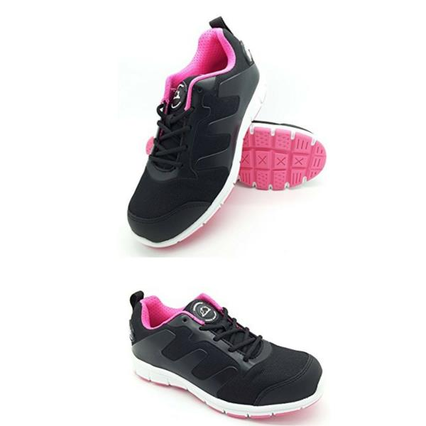 LADIES ULTRA LIGHTWEIGHT SAFETY STEEL TOE  ANKLE BOOTS TRAINERS WOMENS WORK SHOE