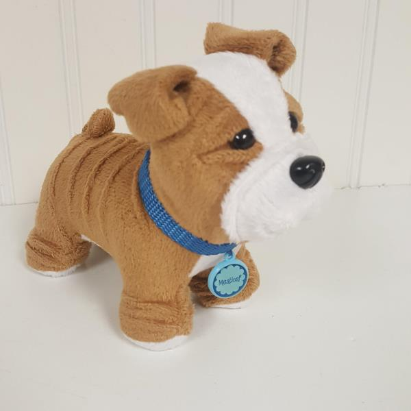 With Collar American Girl Doll Meatloaf Pet Dog Bulldog NEW!
