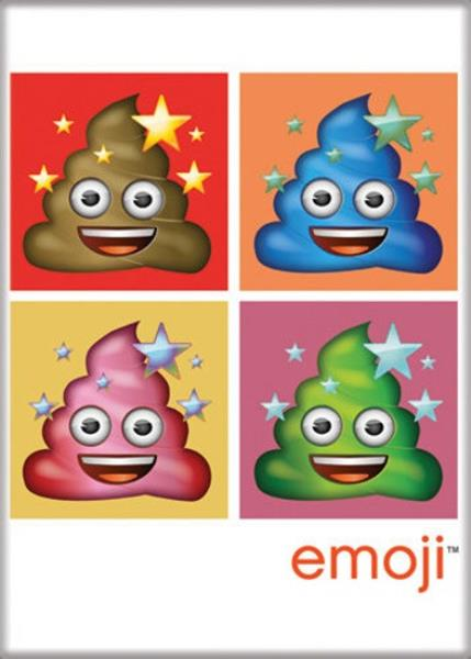 NEW UNUSED Emoji Sh** Poop Happens Art Image Refrigerator Magnet